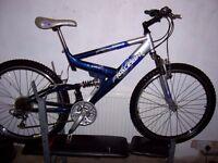 mans suspension mountain bike