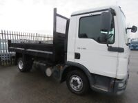 2013 MAN TGL 7.180 WITH NEW DROPSIDE TIPPER BODY. FULL PSV AND JUST SERVICED. READY FOR WORK.