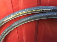 Two 700x25c bike tyres