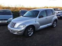 2003 CHRYSLER PT CRUISER IN VGCONDITION HALF LEATHER MOT NICE DRIVING CAR IN LOVELY SILVER ALLOYS CD