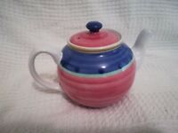 Pink and Blue Teapot