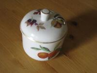Royal Worcester Jam Pot in Evesham Gold Design