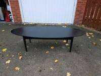 Large Oval Ikea Black Coffee Table FREE DELIVERY 095