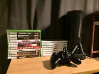 Xbox 360 with 19 games including FIFA 17 and GTA 5