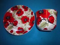 Large Poppy Cup & Saucer IP1