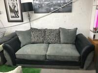 Ex display scs 3 seater with cuddle chair £349 includes delivery
