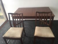 Dining table and chairs 50-60style