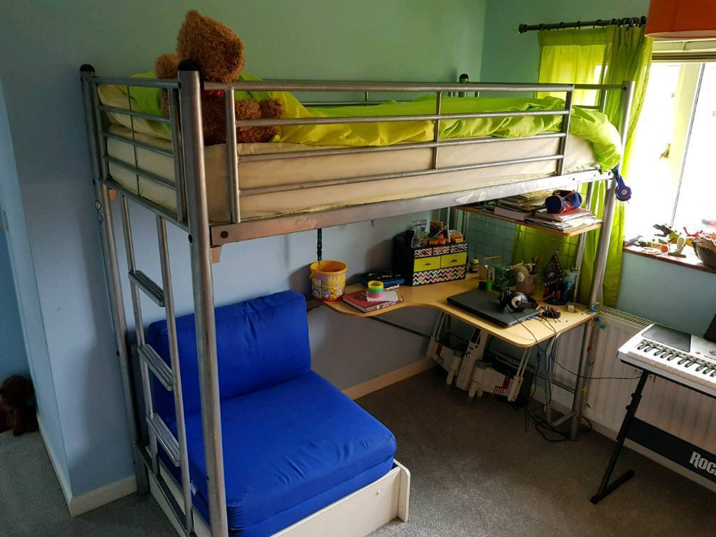 High Sleeper Cabin Bed Desk Futon In Stowmarket Suffolk Gumtree
