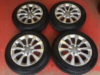17'' GENUINE AUDI A6 SE ALLOY WHEELS AND TYRES 5X112