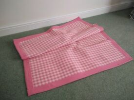 LAURA ASHLEY PINK GINGHAM RUG