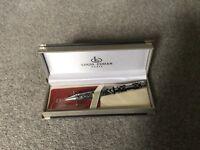 Louis Cordan Black Biro Pen, Boxed as a gift