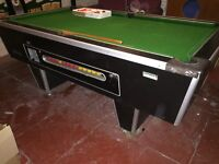 Pool table in good condition for sale. 7 x 4 foot, includes balls and cues. Collect only.