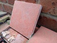 "6"" x 6"" reclaimed red quarry tiles"