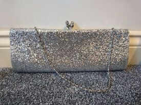glitter bag, used only once, perfect condition