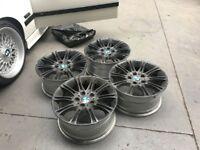 """BMW 17"""" Black MV2 M Sport Style135 Replica Alloy Wheels 17x8J - Z3 Z4 E36 E46 M3 - track drift"""
