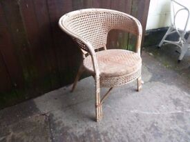 Round Base Wicker Chair Delivery Available