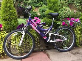 Ladies Womens mountain bike with dual suspension