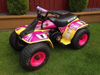suzuki lt 50 quad excellent condition and starter not usual rubbish removable stickers bargain £650