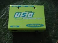 USB midiman minisport audio port (made in Taiwan)