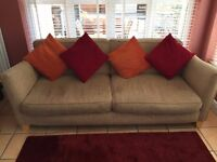 3 seater sofa including scatter cushions, good condition.