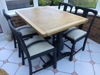 1930s Vintage Oak Table and Chairs