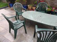 Large garden furniture set/ table with six chairs good condition Harborne