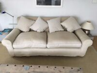 Sofa purchased from Conran with loose cover in 'putty' coloured linen