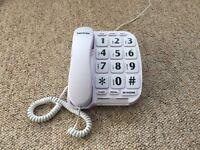 Big button home telephone