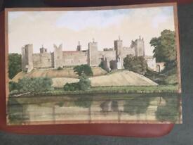 Framlingham Castle, Framlingham Suffolk Watercolour by Peter Agapiou