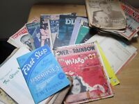 Vintage sheet music and song books