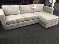 New/Ex Display Harveys Silver Shawbrook Large Right Hand Facing Corner Chaise Sofa