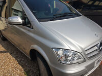 TAXI services anywhere - cheap price PCO licensed MERCEDES BENZ VIANO 7+1 SEATER