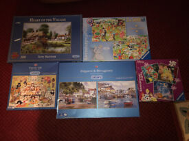 6 x Jigsaw Puzzles - 500 Piece - All Complete