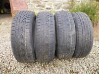 Alloy wheels complete with winter tyres – 185/65R15/88H