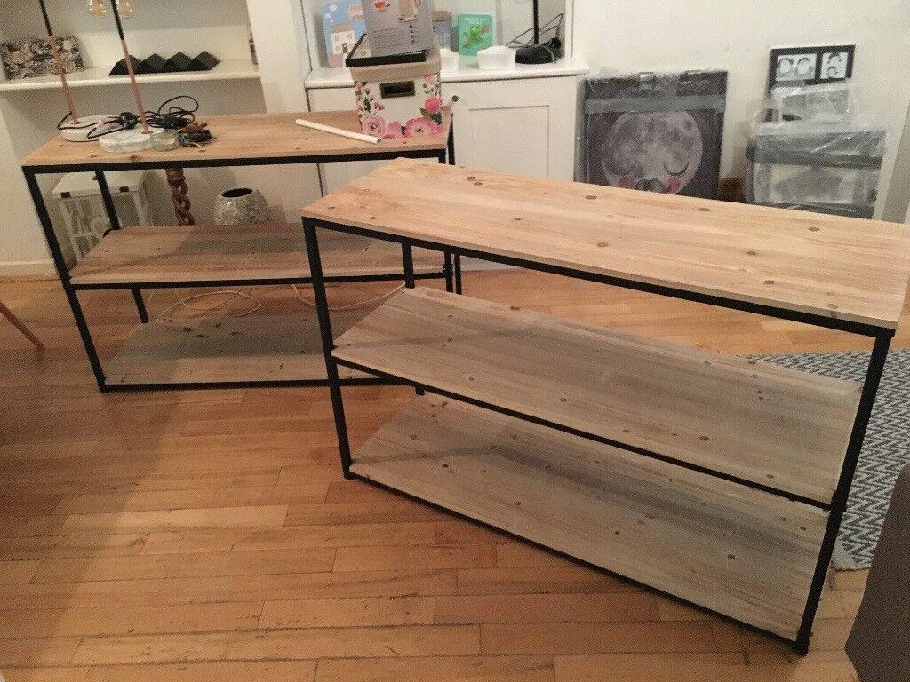 Industrial Book Case Shelving Unit / Side Table / Side Board   in ...