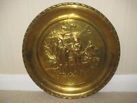 VINTAGE BRASS WALL PLAQUE