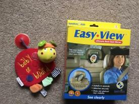 Easy View baby mirror and baby on board hanging toy