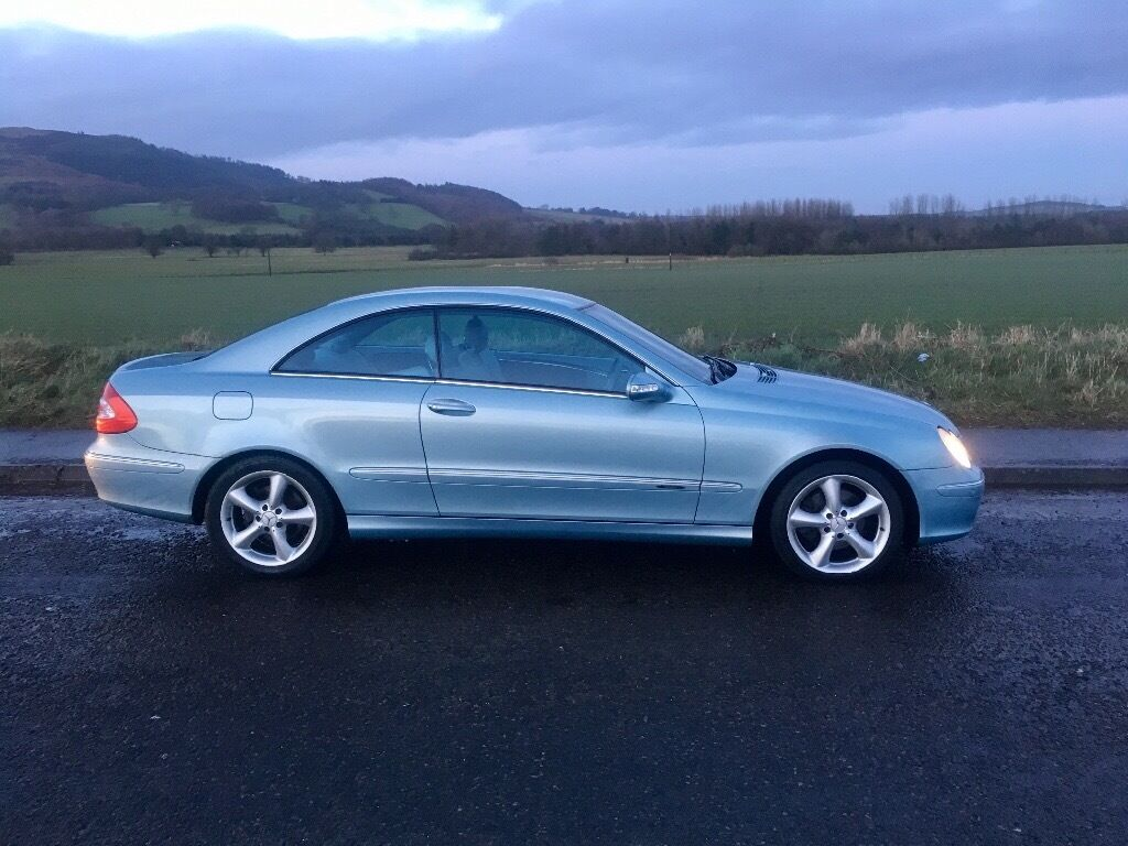 mercedes clk 240 2 6 avantgarde auto coupe ice blue metallic in kinghorn fife gumtree. Black Bedroom Furniture Sets. Home Design Ideas