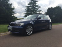 BMW 2010 120D 1 Series 5DR 6-Speed Blue 177BHP 60MPG Full Service History