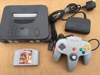 NINTENDO 64 RETRO Console complete with games - bargain £39