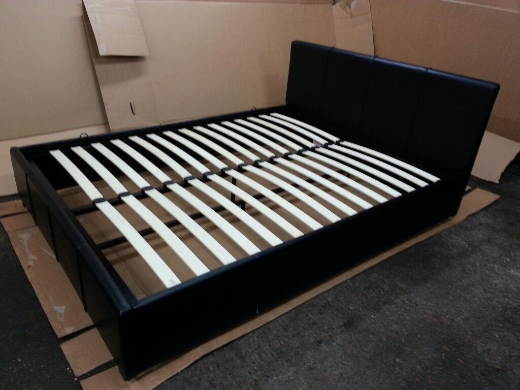 Cool Argos Hygena Hendry Kingsize Side Opening Ottoman Bed Frame Black Leather Effect Sprung Slats In Neasden London Gumtree Gmtry Best Dining Table And Chair Ideas Images Gmtryco