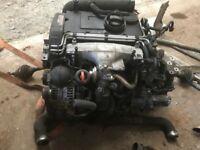 2008 Volkswagen 2.0 BKD Engine Gearbox Complete Audi Touran Golf Seat Low Miles Warranty 90 Days