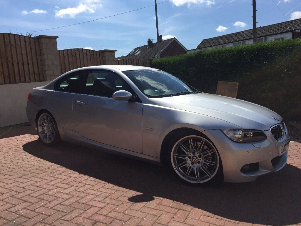 bmw 335d m sport e92 coupe low miles 2007 silver mv4 in. Black Bedroom Furniture Sets. Home Design Ideas