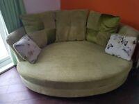 3 piece suite fabric green.