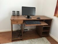 Dell monitor with mouse,sumivision keyboard,Phillips speakers