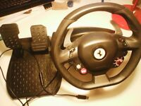 xbox 360 wheel and pedals - Thrustmaster Ferrari 458