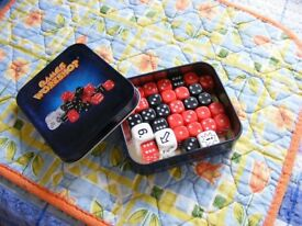 Games Workshop tin of gaming dice.