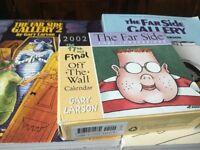 2 FAR SIDE GALLERY COMICAL BOOKS & FARSIDE 2002 FINAL DESK CALENDAR 'THE BOY'