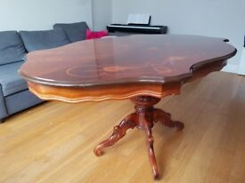 Oriental vintage wooden dining table