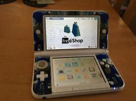 3ds xl white + 16GB memory card